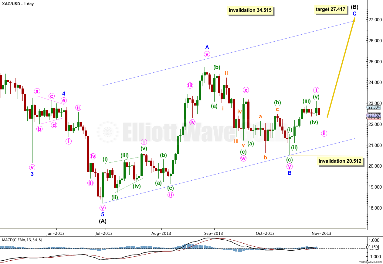 SILVER Elliott Wave Chart Daily 2013
