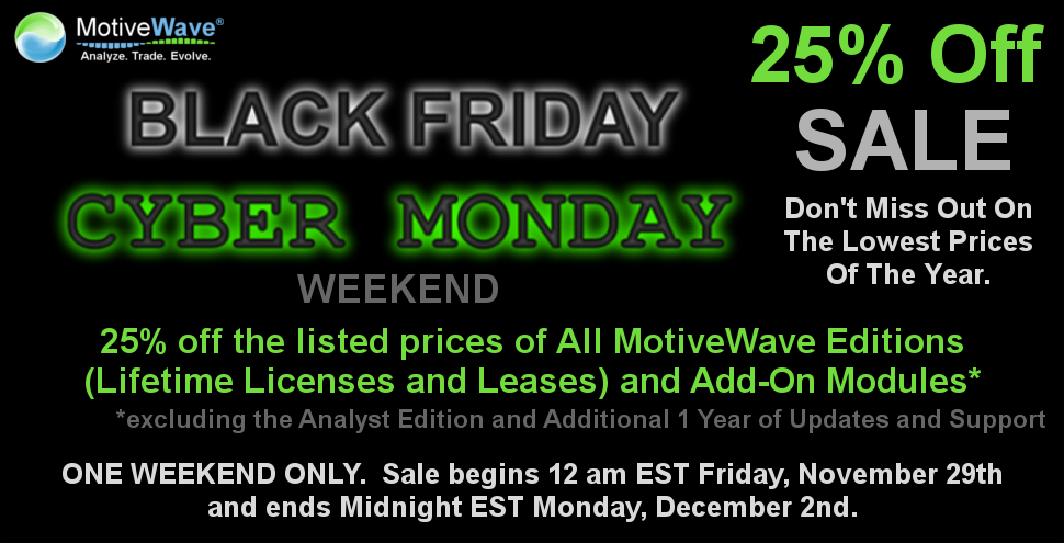 MotiveWave Black Friday Cyber Monday-