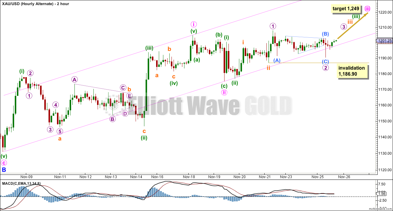 GOLD Elliott Wave Chart 2014