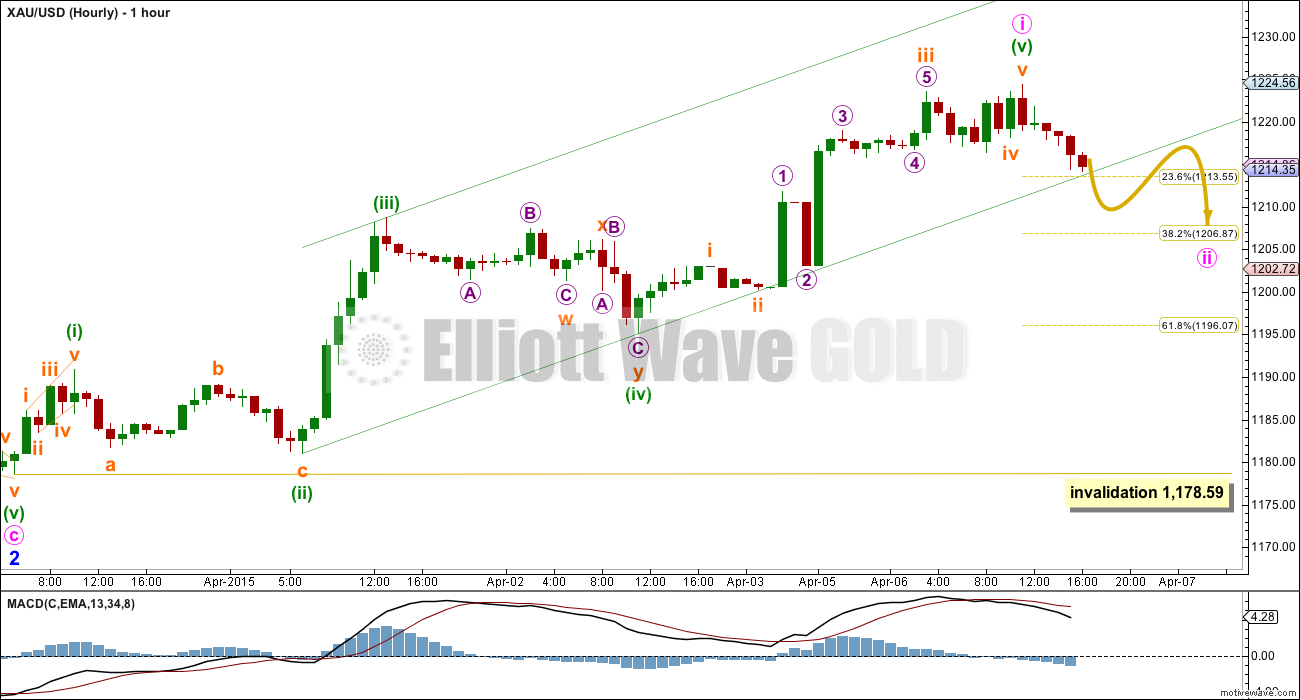 GOLD Elliott Wave Chart 2015
