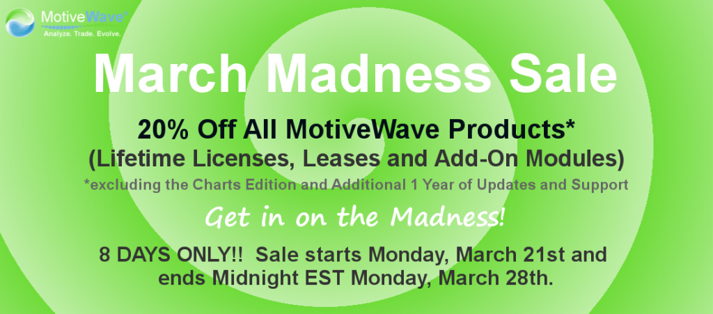 MotiveWave Elliott Wave Software March Madness 2016 Sale