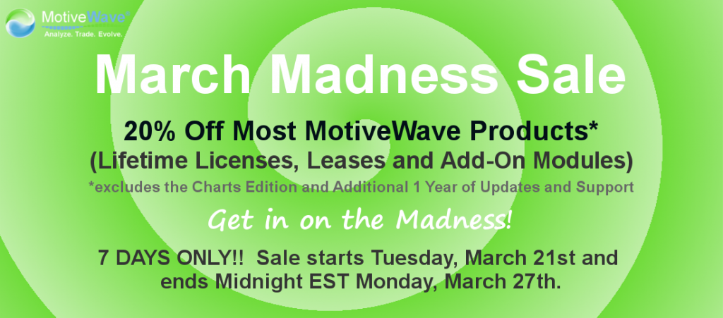 MotiveWave Elliott Wave Software March Madness 2017 Sale