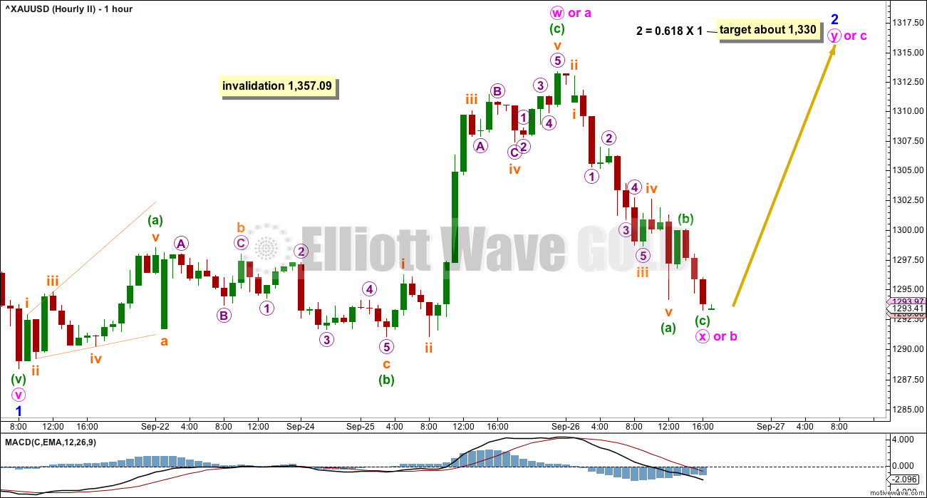 Gold Elliott Wave Hourly 2017
