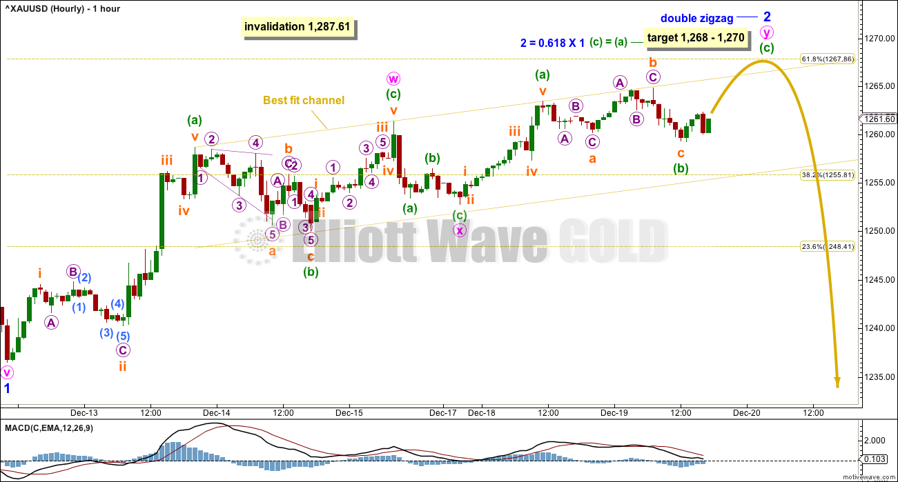 Gold Elliott Wave Chart Hourly 2017