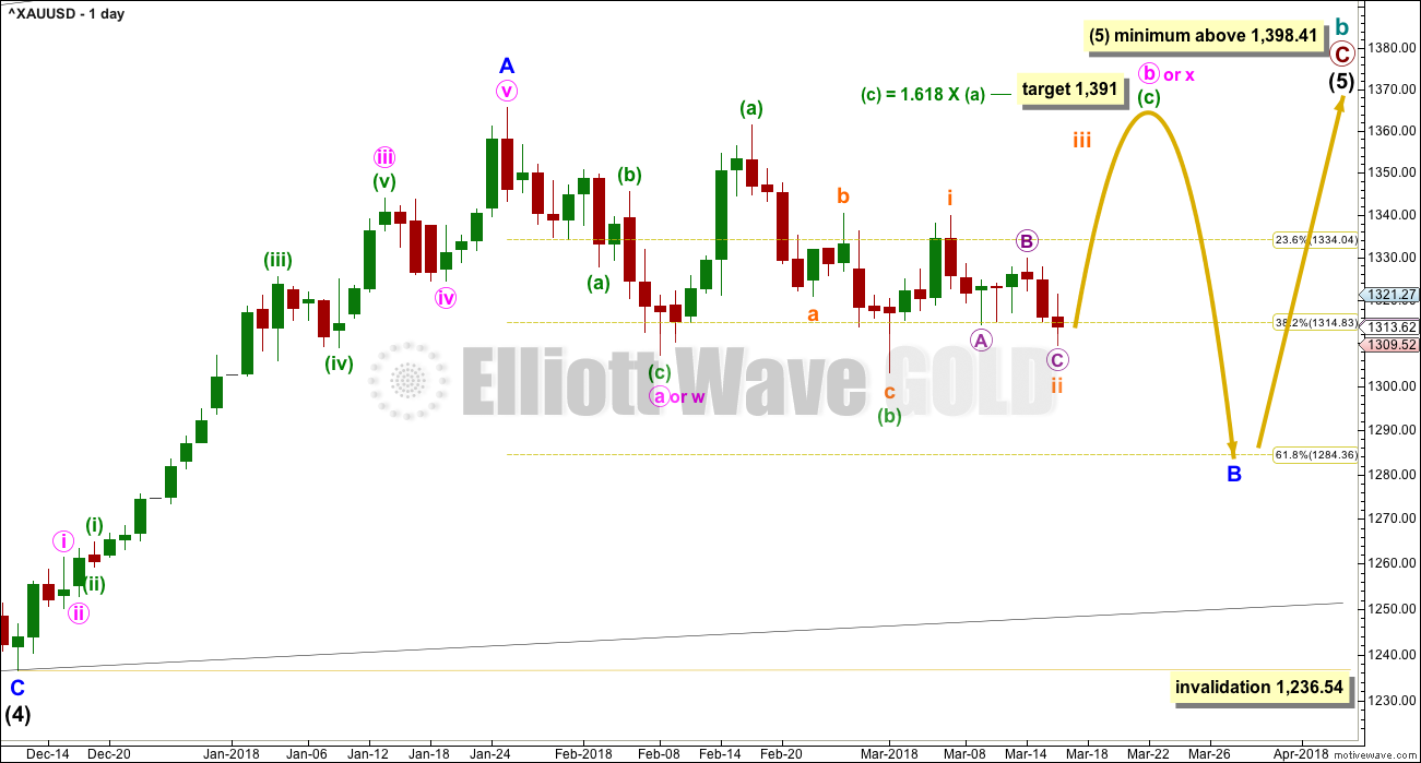 Gold Elliott Wave Chart Daily 2018