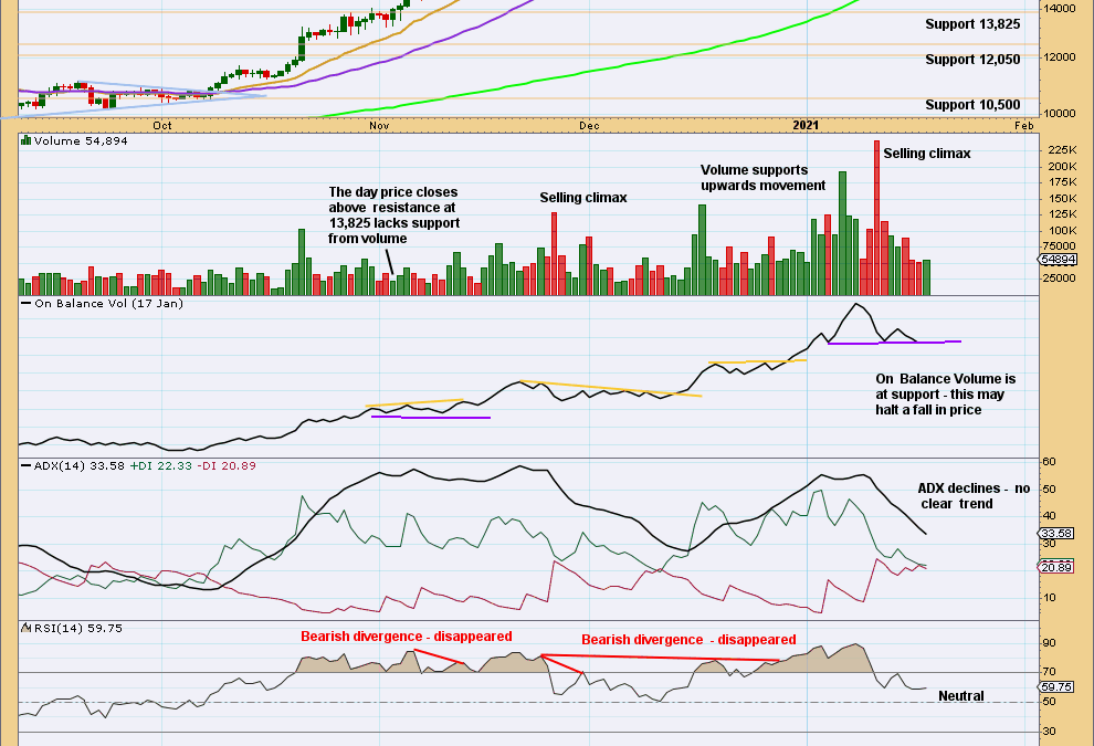 BTCUSD: Identifying Bitcoin Highs and Lows | Charts – January 18, 2021